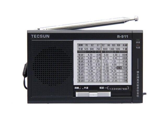 TECSUN R-911 AM/FM/SW Нескольких Полос Радиоприемник