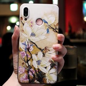 Черный силиконовый чехол с розовыми цветами для Huawei P Smart 2019 P10 Plus P30 P20 Pro Lite Honor 7C 7A 9 10 Lite Nova 3 3i 4