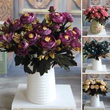 fleur artificielle flors Tea Roses artificial Tea Rose silk flower wedding flowers decoration Or Party artificial