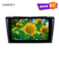 Harfey 9 2Din Android 6.0/7.1/8.1 GPS Car Radio Stereo For 2004 2005 2006 2007 2008 2009 Mazda 3 Multimedia Player Head Unit