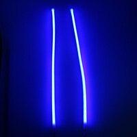 New Arrival White Blue 2PCS Flexible LED Tube Strip 45CM DRL Daytime Running Lights Turn Signal