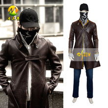 Hot Fashion Hot Newest Computer Game Watch Dogs Cosplay Costume for Men Best Quality Fast Shipping