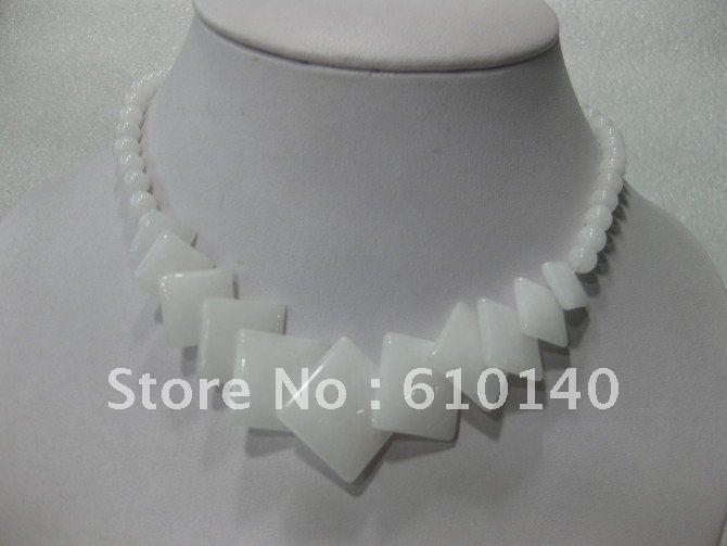 6 шт. белый ювелирные изделия ожерелье G3999-44-T
