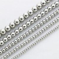 Для мужчин Для женщин классический простой серебряный Нержавеющаясталь 4 мм/5 мм/6 мм/8 мм/10 мм шарики мяч цепи Цепочки и ожерелья 18