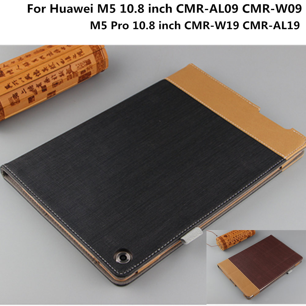 Business Protective Cover PU Leather Patchwork Case For Huawei Mediapad M5 10.8 CMR-AL09/W09 Pro 10.8 CMR-W19 / CMR-AL19 Tablet