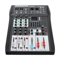 Лесли Profissional Bluetooth 4 канала контроллер DJ микшер с USB светодиодный Экран металла DJ микшерный пульт Беспроводной для аудио музыки