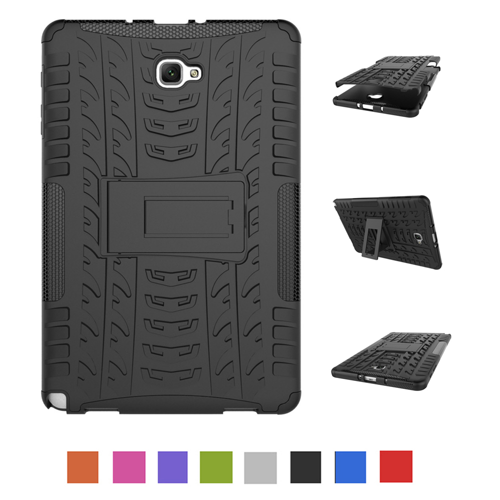 Case For Samsung Galaxy Tab A A6 10.1 Inch 2016 S-Pen Version P580 P585 Hard PC With Silicon Tablets Books Case Cover Shell