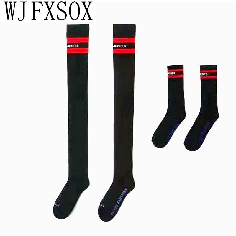 2019 New Women Thicken Warm Fuzzy Ladies Socks Letter Print Oversize Knee Socks Women Autumn Winter Cotton Warm Sock
