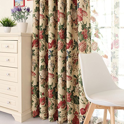 Shabby Chic Bedroom Curtains: Shabby And Chic Flowers Jacquard Window Shades,Elegant