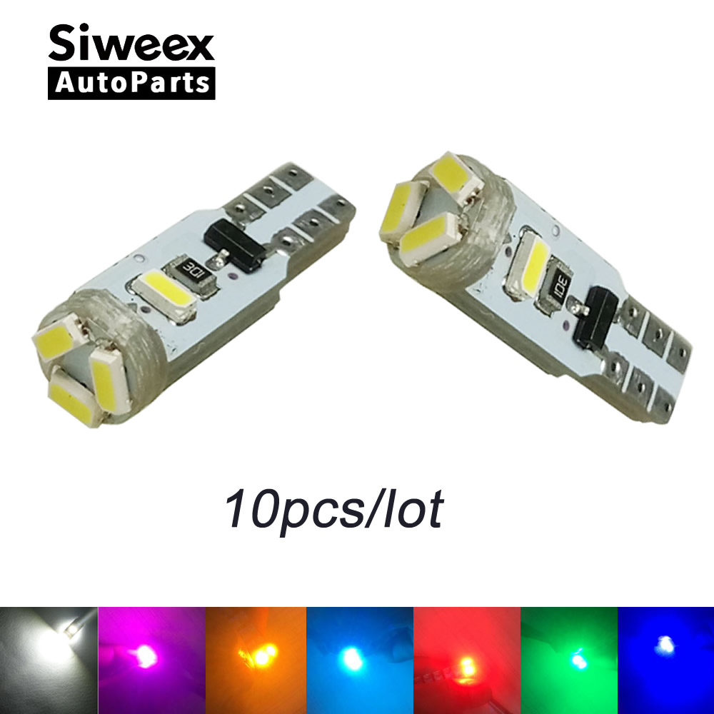 10pcs Car Auto LED T5 5 led smd 3014 Wedge Light Lamp White DC12v Instrument Warning Indicator Signal Bulbs (Non-Polarity) 1056 auto bulbs py21w s25 led 3014 smd car tail bulb turn signal auto reverse lamp daytime running light amber white yellow
