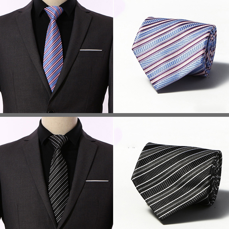 Factory Seller 8cm Men 39 s Classic Tie 100 Silk 20 Color components Wide Stripes cravatta multi color Ties Man Bridegroom Necktie in Men 39 s Ties amp Handkerchiefs from Apparel Accessories