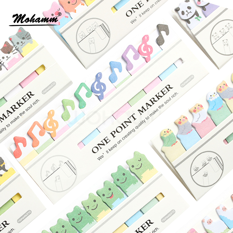 Kawaii Cute Cat Korean Diy Panda Post It Label Sticker Sticky Notes School Office Supplies Stationery Page Flags For Stationery page flags green 50 flags dispenser 2 dispensers pack page 4