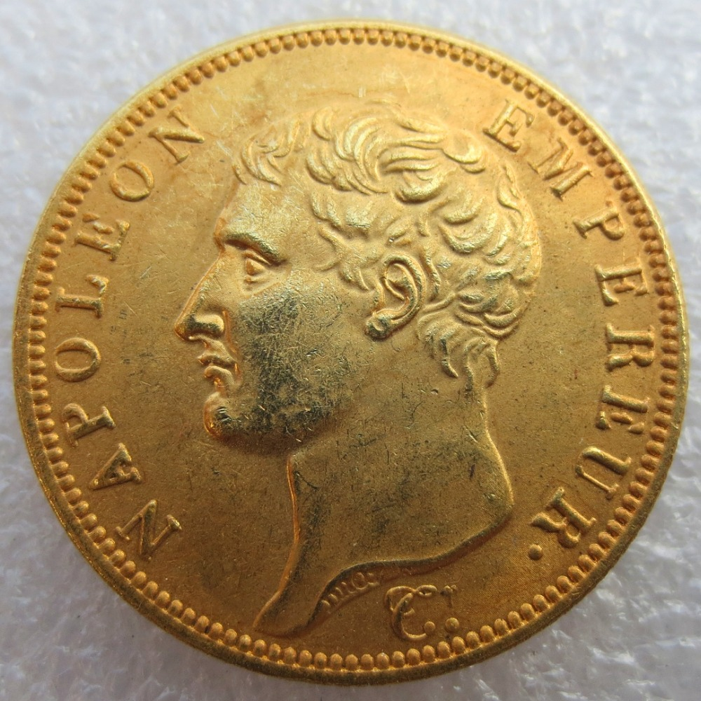 40 Francs AN14 A France Napoleon Gold Plated Copy Coins