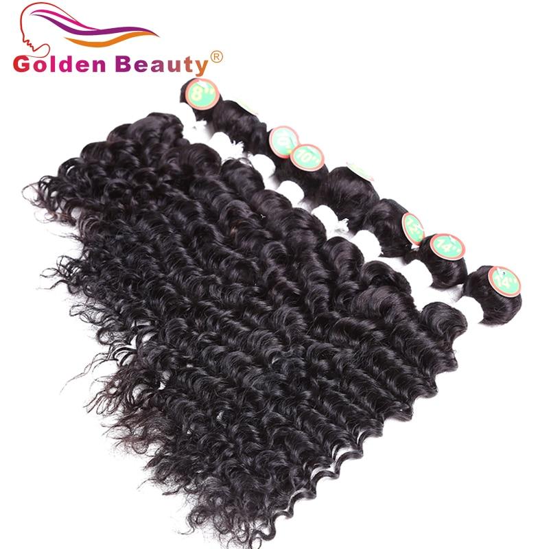 8-14 tums Ombre Deep Wave Hair Bundles 8st / Lot Värmebeständigt - Syntetiskt hår