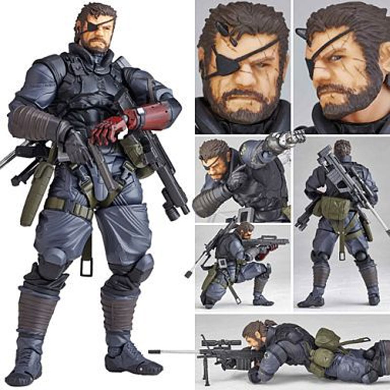 MGS Alloy Equipment Magic Pain SNAKE PVC Action Figure Model Gifts Toys Collections About 14.5cm new metal gear solid v action figure toys 16cm mgs snake figma model collectible doll mgs figma figure kids toys christmas gifts