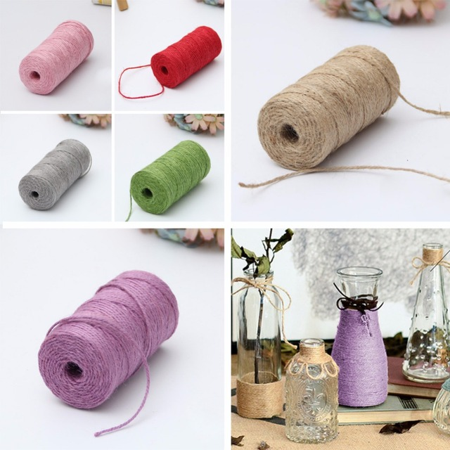 creative 2pcs diy 6 colors yarn rope hemp ropes 100 grams apparel sewing fabric christmas