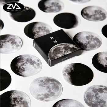 45 Pcs/box moon style Mini Paper Decoration DIY Scrapbook Notebook Album seal Sticker Stationery Kawaii Girl