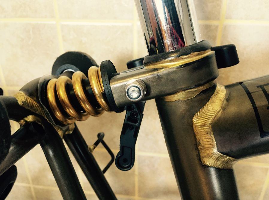 RockBros Titanium Front Coil Spring Ti Front Suspension Shock Shox for Birdy