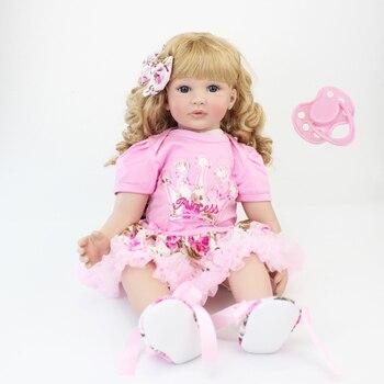 60cm Silicone Reborn Baby Doll Toys 24inch Vinyl Princess Toddler Babies Dolls Alive Birthday Gift Play House Toy Girls Bonecas