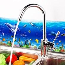70*25 cm submarino dolphin Fish decoración Para El Hogar Cocina Baño aseo Pegatinas de Pared Decal Decoración Arte Accesorios Suministros