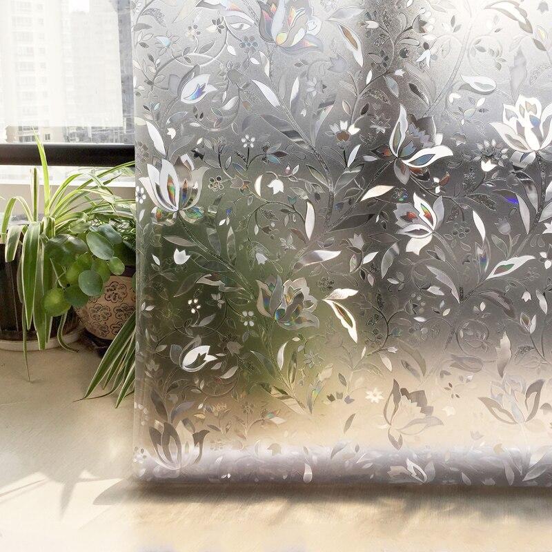 CottonColors PVC Fenstertönungsfolien No-Glue 3D Static Flower - Wohnkultur - Foto 4