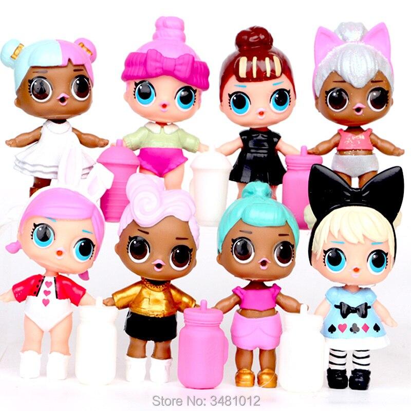9cm lol Dolls bebek PVC Action Figures lol Ball Doll Baby Tear Open Color Change Egg Kids toys for Girls Children Birthday gift