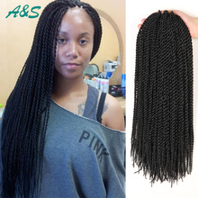 18 crochet braids faux locs crochet hair thin senegalese twist hair ...