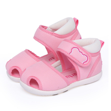 Crtartu Summer Style 1 Pair Pink Fine cloth Sticky Embroidery Cartoon Bear Baby Step Baby shoes 18cm