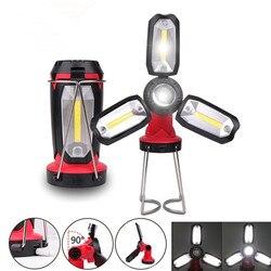 COB портативный фонарь, лампа для палатки, USB Перезаряжаемый ультра яркий светодиодный легкий фонарь для кемпинга, фонарь для работы, пешего т...