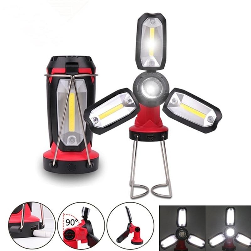 COB Portatile Lanterna Della Tenda Della Lampada USB Ricaricabile Ultra Led Luminoso di Campeggio Leggero Lanterne di Luce Per Lavorare Da Trekking Campeggio