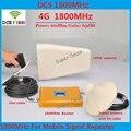Conjuntos completos LCD Reforço! DCS 4G LTE 1800 Telefone Celular Repetidor De Sinal GSM 1800 MHz Celular Repetidor De Sinal de Reforço Com Antena