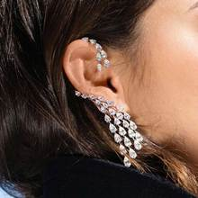 Godki роскошный дизайн чудесные ааа цирконий a master piece of neo-тенденция ювелирные изделия уха кости манжеты серьги сингл кусок