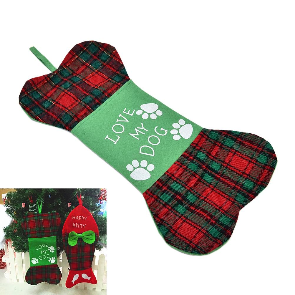 Fish christmas ornaments - 1pcs New 2 Styles Fish And Bone Christmas Tree Hanging Stockings Sack Sock Ornament Must