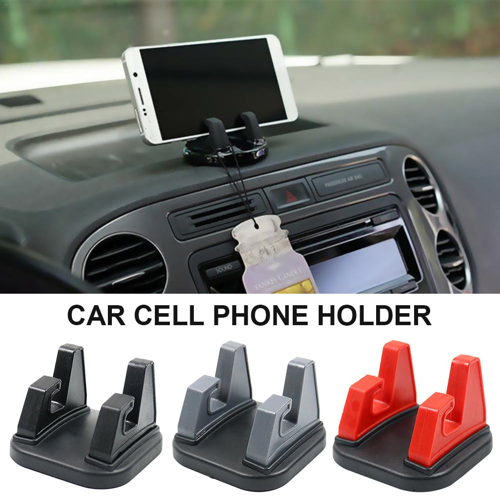 Silicone Car Desktop Universal Rotary Phone Holder Instrument Panel Navigation Stand Car Cell Phone Holder 360 Degree Rotate