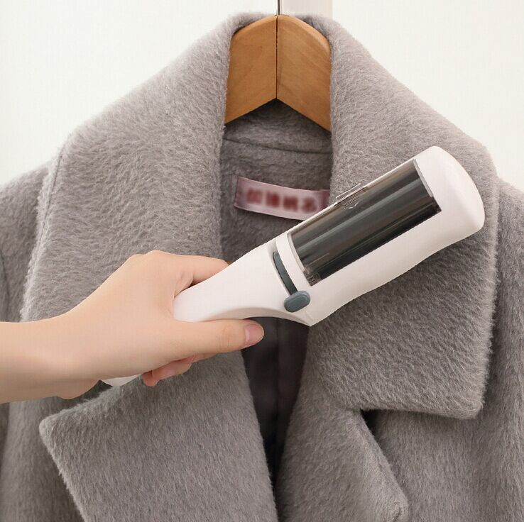 Portable Dry Cleaning Brush Static Clothes Lint Wool Brush Remover Lint Sticking Roller fur wizard