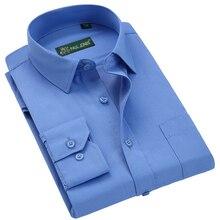 PAULJONES High Quality Classic Long Sleeve Dress Shirts Men Business Fo