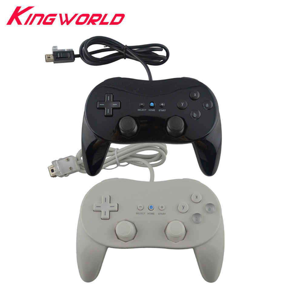 50pcs High quality Classic 2 Wired Game Controller Gaming Remote Pro Gamepad For Nintendo Wii