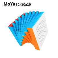 New MoYu Cubing Classroom Meilong 10x10x10 Magic Speed Cube Stickerless Puzzle Cube Educational Toys For Children