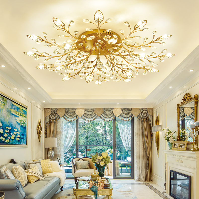 Fumat Led Ceiling Fans Crystal Light Dining Room Living: Modern Ceiling Light Dining LED Crystal Ceiling Lamp