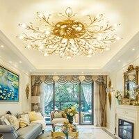 New item fancy ceiling light LED Crystal ceiling lamp modern lamps for living room lights AC110 240V DIY Crystal lighting avize