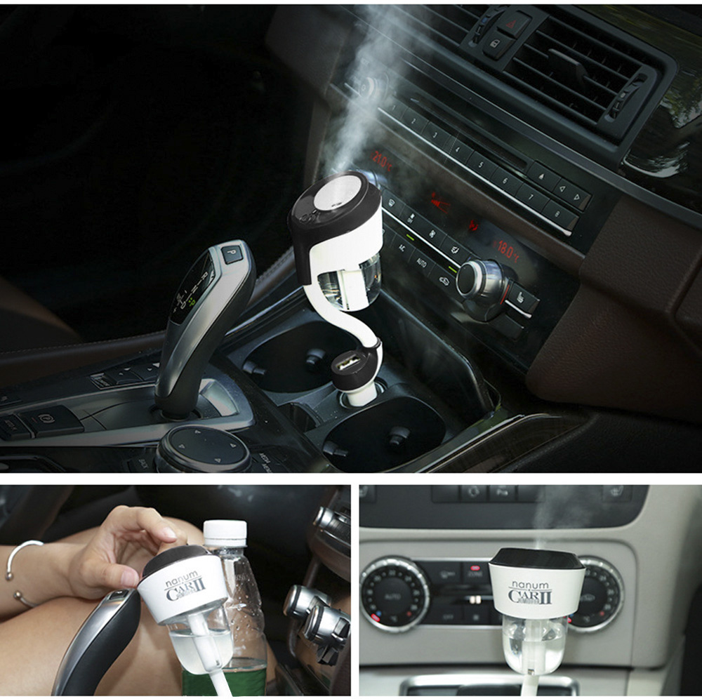 New 12V Car Humidifier Automobile Fragrance Mini Air Humidifier with One USB Charging Port Aroma Diffuser Portable Air Purifier [супермаркет] джингдонг спалдинг spalding 74 582y маленькие дети баскетбол баскетбол no 5