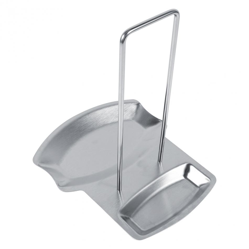 Kitchen Organizer Pot Lid Rack Stainless Steel Spoon Holder Pot Lid Shelf  Cooking Dish Rack Pan Cover Stand Kitchen Accessories