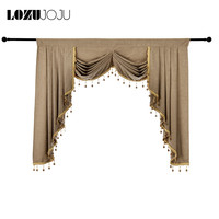 LOZUJOJU Rustic Home Decor Valance Short Curtains Thread Cloth All Match Windows Kitchen Drops Beads European Modern Design