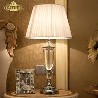 abajur de mesa lamparas europe brief crystal bedside lamp abajur sala Lighting crystal lamp brief modern crystal table lamp
