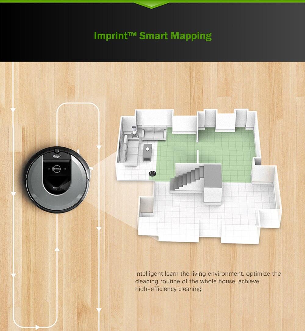 Робот-пылесос IRobot Roomba I7 Plus, автоматическое удаление грязи, аспиратор, умный, автоматическое управление зарядкой через приложение