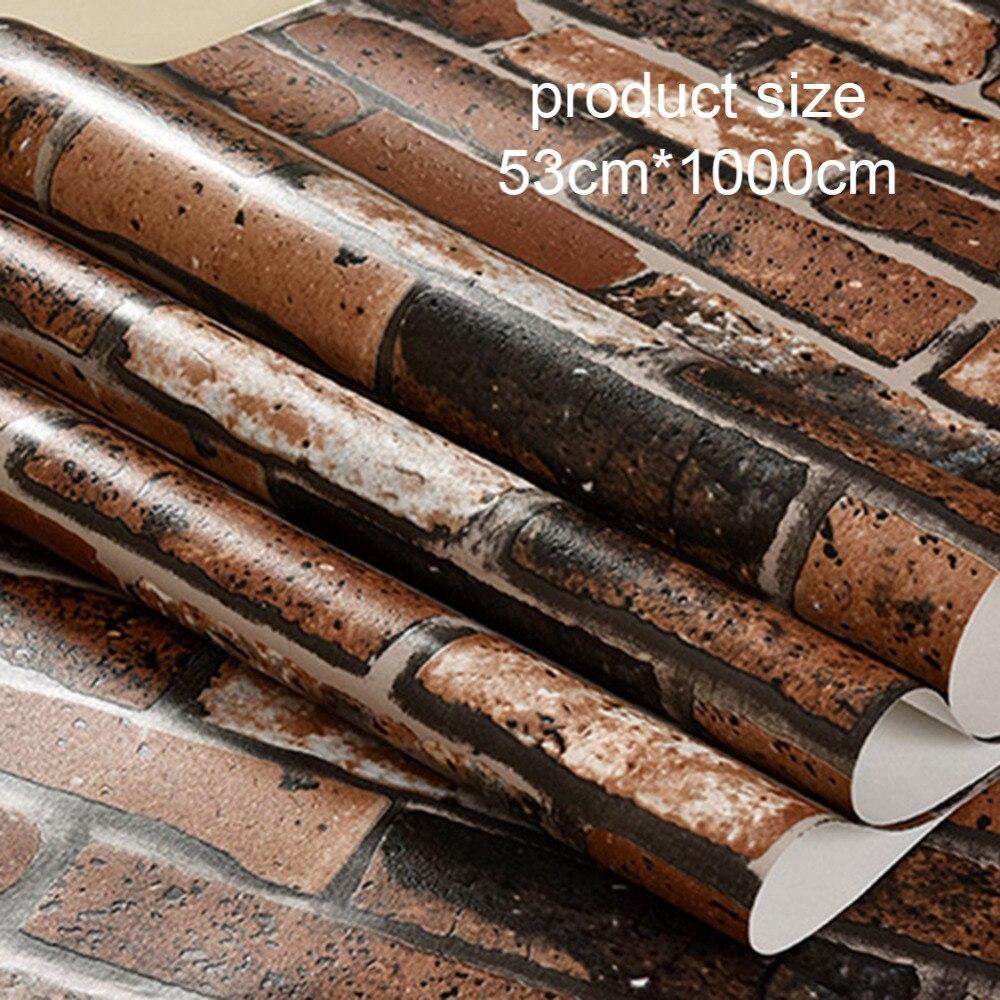 creative 3d stereo brick culture brick hotel ktv hotel wallpaper home decoration non woven wallpaper wall - Brick Hotel Decoration