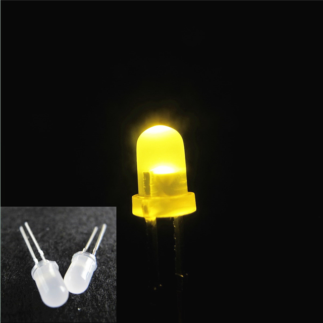 US $2 83 30% OFF|100pcs LED 5mm Diffused LED WARM White Bulb Light Urtal  Bright MILK led lamp 5MM Emitting LED Diode DIY KIT-in Light Beads from