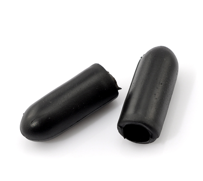 100PCs Black Rubber End Tips For Headband Hairband 15x6mm(5/8