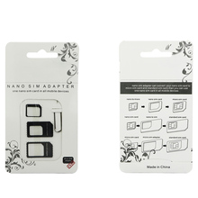 SIM Card Adapter 4 in 1 Nano Micro SIM Adapters Standard SIM Card Adapters Eject Pin For iphone 4 4S 5 6 6S 7 8 X Plus Phones 70 цена в Москве и Питере