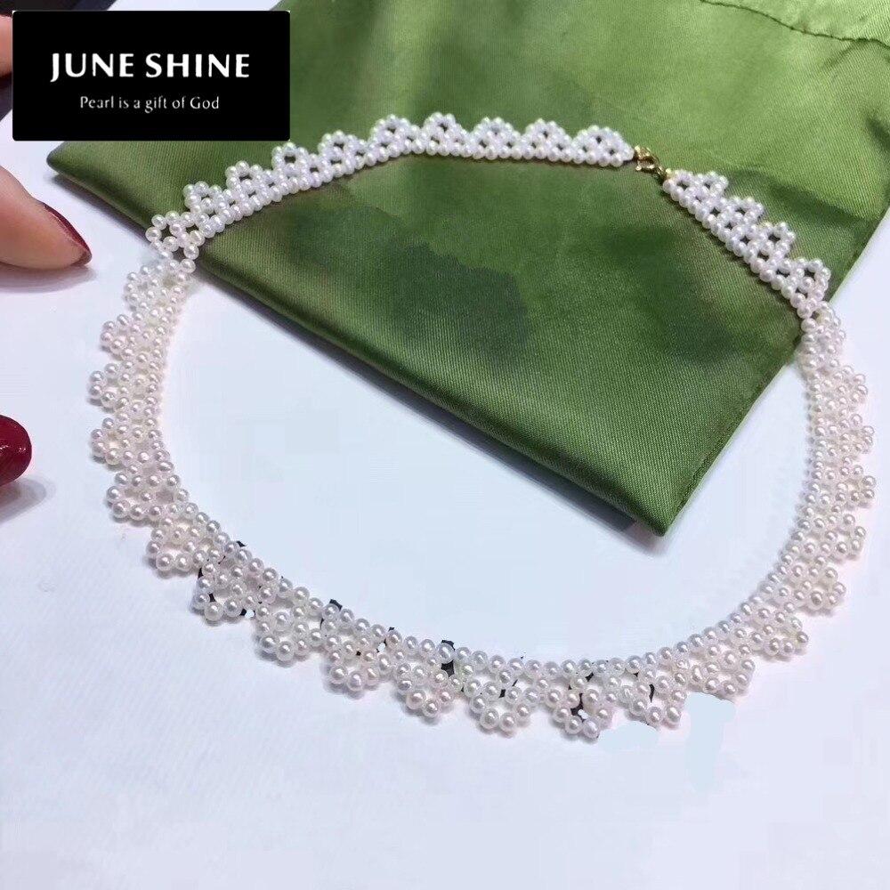 NL020 collier de perles d'eau douce, vraies perles, tour de cou